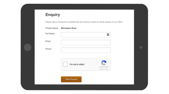 Enquiry Forms with Mintox